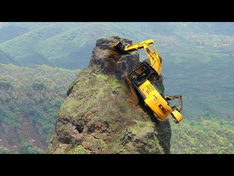 10 Extreme Dangerous Idiots Excavator Operator Skill Fastest Climbing Excavator Machines Driving