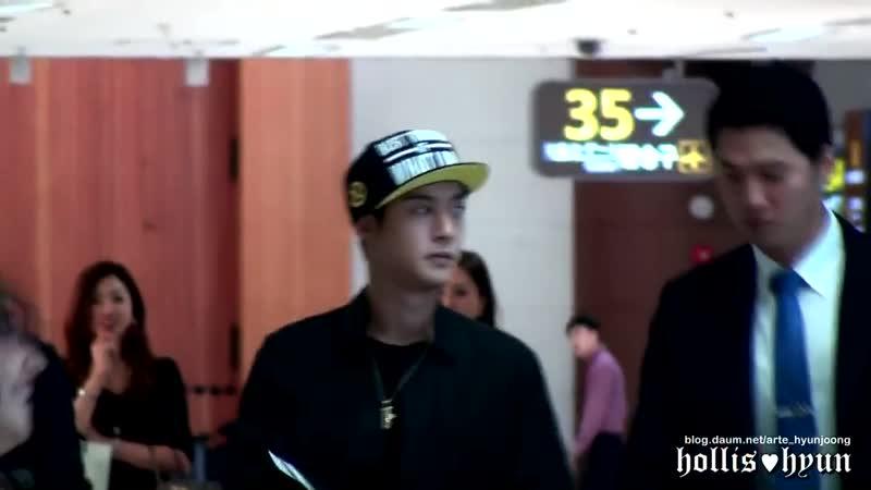 2013.09.14~15 Kim Hyun Joong 김현중 - For Fireworks ㅠㅠㅠ(Gimpo Haneda Airport)