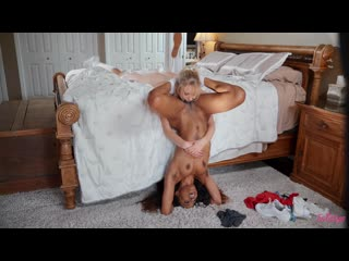 Pussy fingering, pussy licking, lesbian, 69, scissoring, bubble butt, piercing, ebony, natural tits, hairy pussy, 1080p