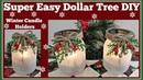 Winter Candle Holder❄ Easy Dollar Tree❄ DIY Sparkling