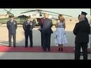 President Donald J. Trump and First Lady Melania Trump arrive at Ellsworth Rapid City, South Dakota