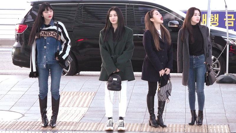 200110 레드벨벳(Red Velvet) 출국 '웬디 부상으로 4인체제 일본투어 떠나는 레드벨벳' 직캠|인천공항 · 비몽