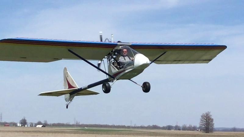 САМОЛЁТ УЛЬТРАЛАЙТ Crosswind landing in Kolb Firestar