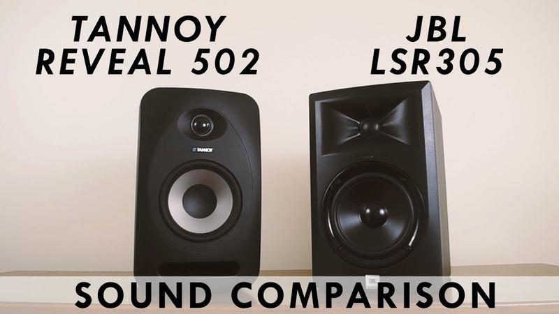 JBL LSR305 vs Tannoy Reveal 502 Sound Comparison
