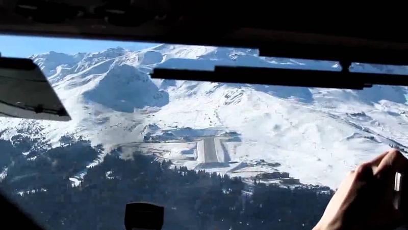 2011 Courchevel CVF (LFLJ) Landing RWY 22