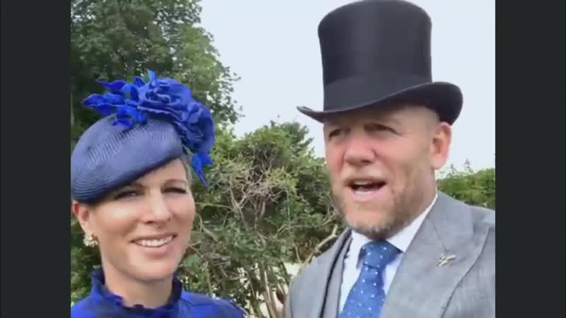 Mike Zara Tindall participate in a video chat with ITV Racing to mark Day 1 of Royal Ascot