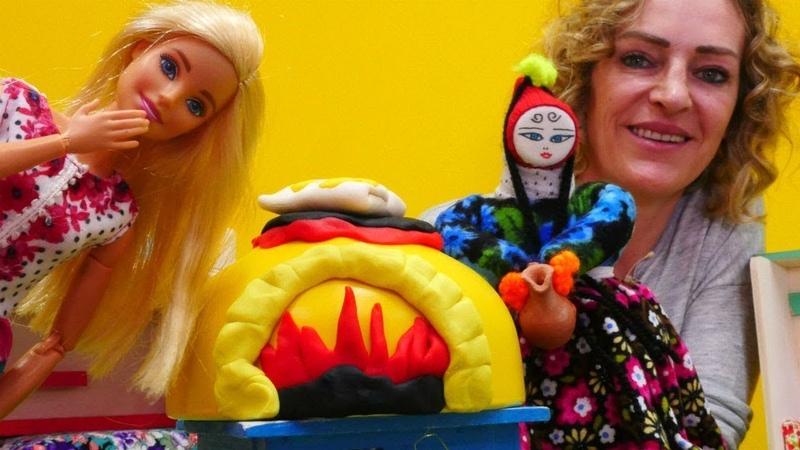 Barbie ile video Gözleme yapıyoruz Yemek yapma oyunu