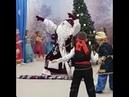 Дед Мороз КРУТО танцует под песню Ты пчела, я пчеловод