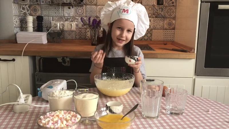 Кексы с мини маршмеллоу Готовят дети
