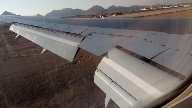 Boeing 767-300ER Посадка
