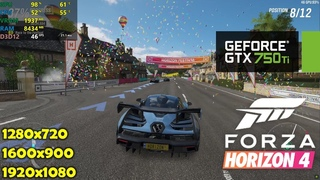 GTX 750 Ti | Forza Horizon 4 - 720p, 900p, 1080p