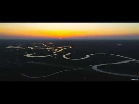 Красивый закат на реке Аксай Есауловский