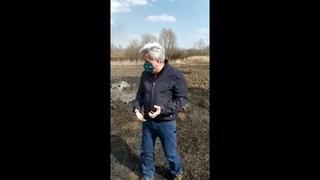 Ну, что за ёп..понский городовой! - мэр Саранска крайне возмущен палом травы на Инсарке
