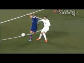 Shinji Okazaki Goal ( Keisuke Honda BackHell Assist ) 4-0 - Japan vs New Zealand HQ