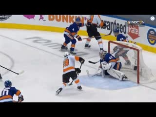 - Isles Semyon Varlamov save on AnytimeAnywhere Joel Farabee