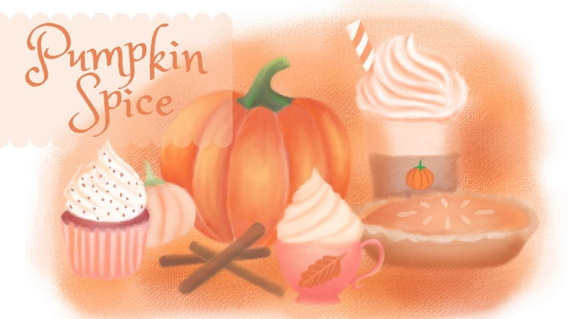 Pumpkin Spice Autumn Season Sweet Treats Digital Art | SketchbookPro