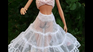 Как сшить нижнюю юбку кукле. How to sew a petticoat for a doll
