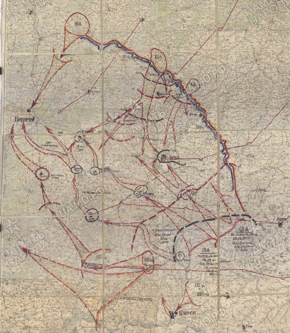 Собственно, вот чего хотело советское командование, если приложить замыслы к карте.