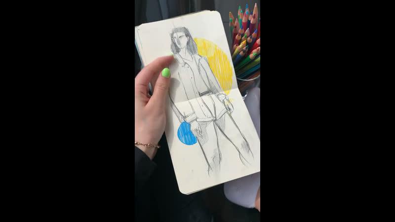@humid peach sketchbook