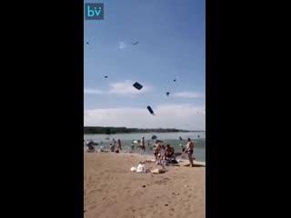Матрацный торнадо в окрестностях Челябинска