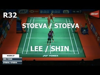 2018 Indonesia Open LEE So Hee SHIN Seung Chan vs Gabriela STOEVA Stefani STOEVA