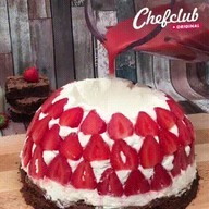 """id_17041 Торт """"Вулкан"""" с клубникой 🍓  Автор: Chef Club  #gif@bon"""