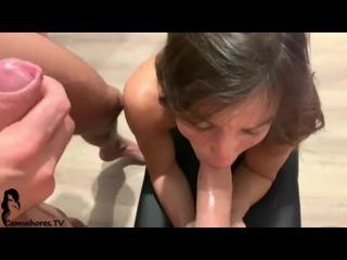 Трахаем мою Настю с другом (домашнее частное русское порно анал минет отсос сперма оргазм зрелая мамка милфа оргия скайп
