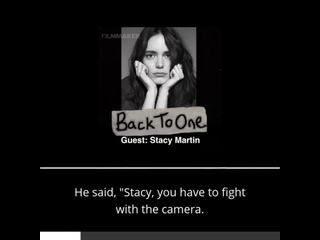 Stacy Martin - Back to One Interview