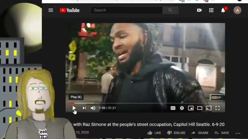 Лидер самообороны майдана в Сиэтле Раз Симон предпочитает автомат Калашникова
