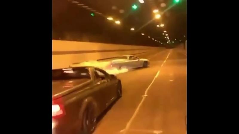 Lighting Up The Tunnel 🙌💨 дрифт авто auto car sportscars driver автолюбители lowride