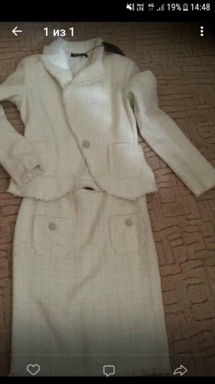 Новый костюм размер 42 цена 3500
