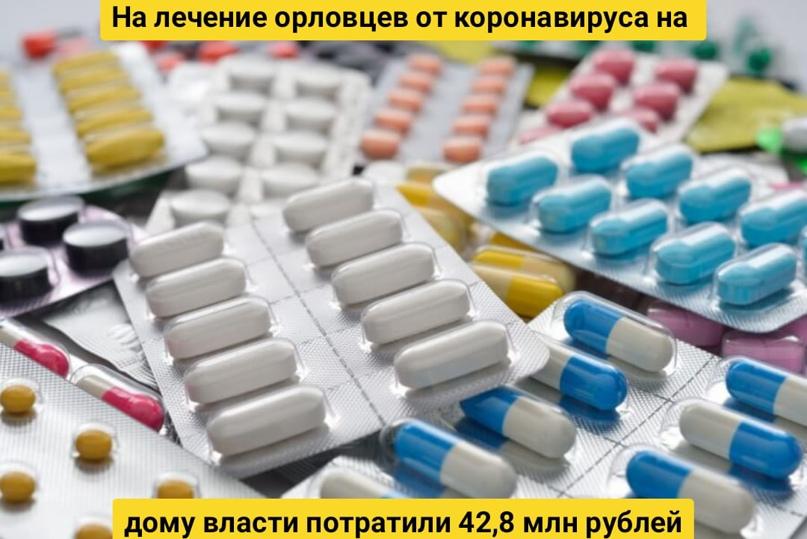 На лечение орловцев от коронавируса на дому власти потратили 42,8 млн рублей