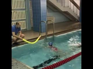 Недавно состоялась первая тренировка по плаванию у нашей воспитанницы Насти. 🏊♀️☺️Настя  давно хотела заниматься таким  олимпи