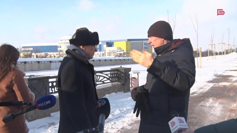 Вячеслав Гладков и Юрий Галдун совершили рабочую поездку по городу