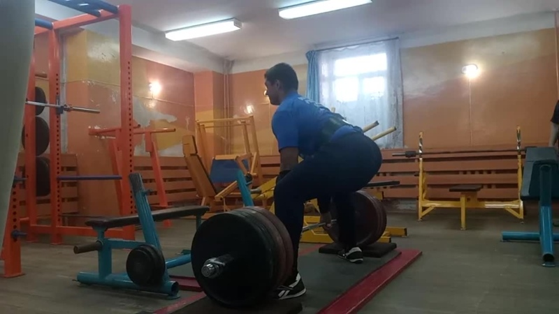 Волков Сергей2002 Тяга с резин. (43мм) 305 кг. (30.05.2019)