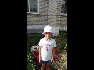 Воспитанница нашего детского сада Игнатенко Тася принимает участие в нашем марафоне.