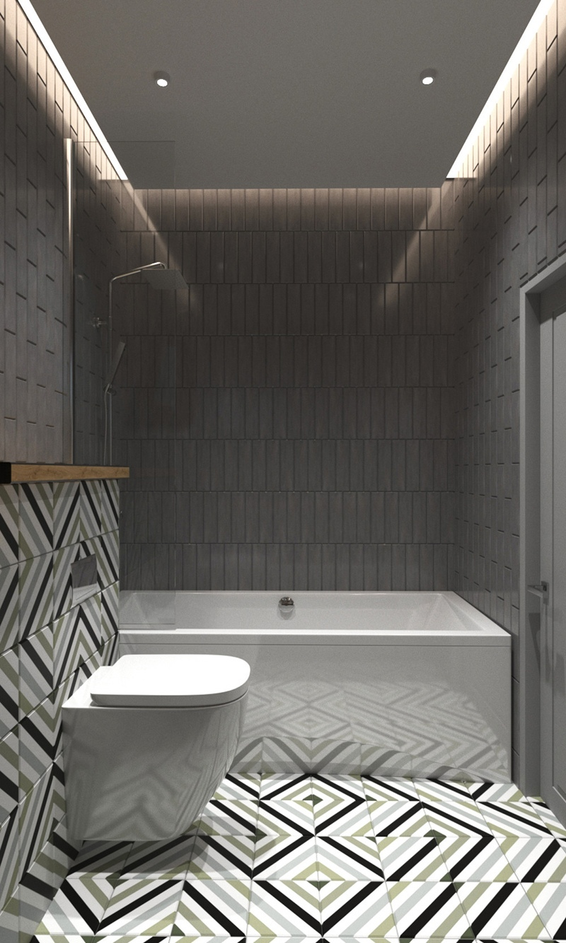 Дизайн-проект студии квадратной планировки почти 29 м.