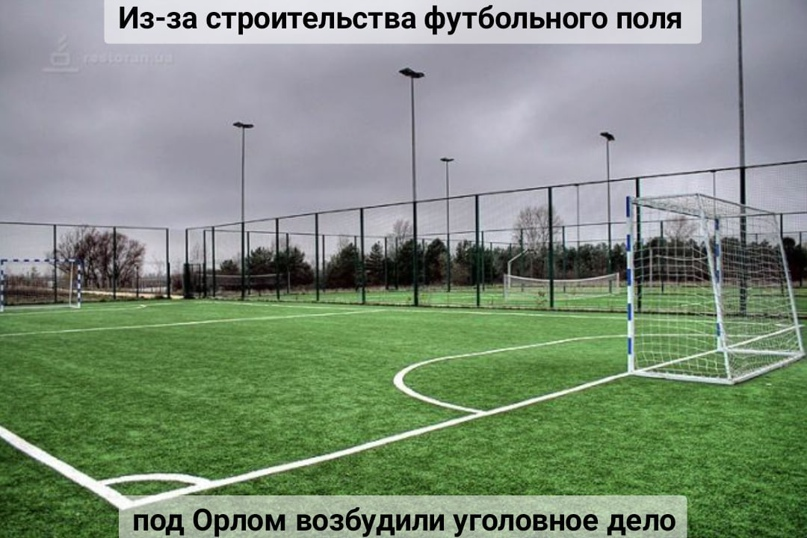 Из-за строительства футбольного поля под Орлом возбудили уголовное дело
