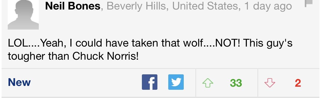 Реакция иностранцев на новость о Сибирском фермере, задушившим волка голыми руками