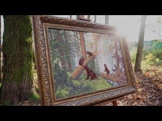 Набор для вышивания ПФ-008 Утро в сосновом лесу (Шишкин И.И.)