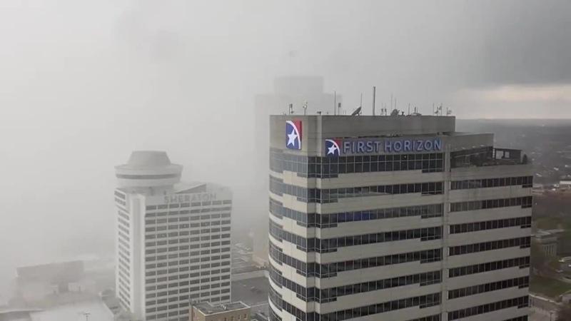 Стена дождя накрывает Нэшвилл США Теннесси 25 марта 2021