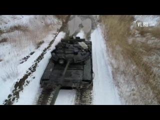 Тренировки морской пехоты ТОФ на танках Т-80БВ
