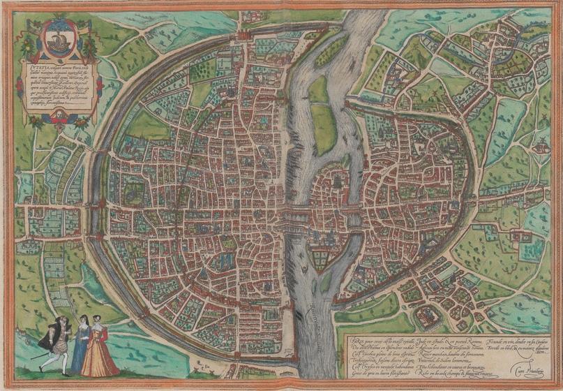 Париж около 1570 года. Гравюра из атласа Civitates Orbis Terrarum