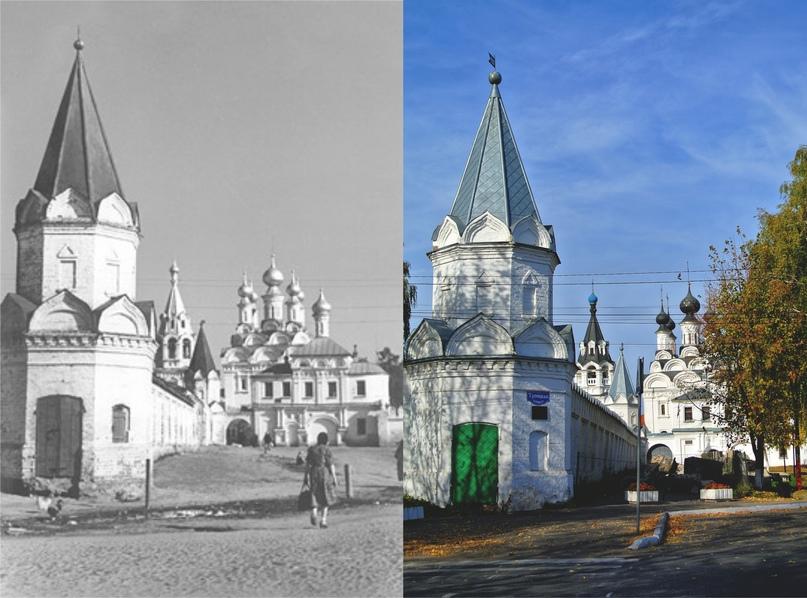 Вид на Благовещенский монастырь 1950-е / 2020 гг. (Фото ДО Спасский С.А.)