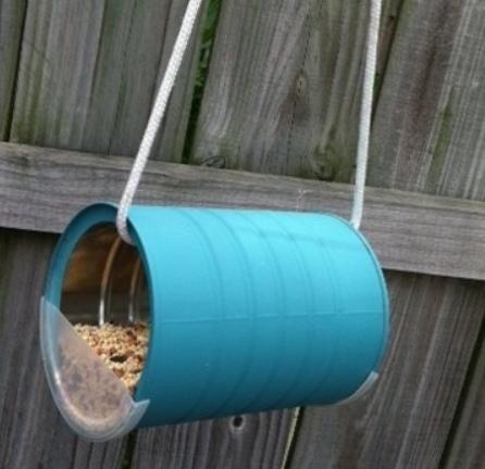 как сделать подвесную кормушку для птиц,