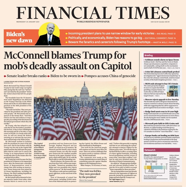 FINANCIAL TIMES - USA - JANUARY 20 th 2021