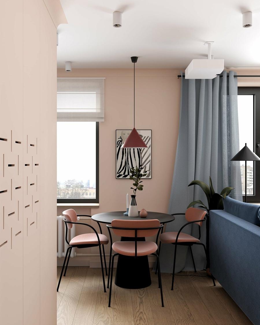 Проект квартиры-студии 35 кв.