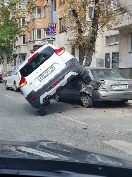 Когда очень спешил припарковаться где-нибудь на тр...