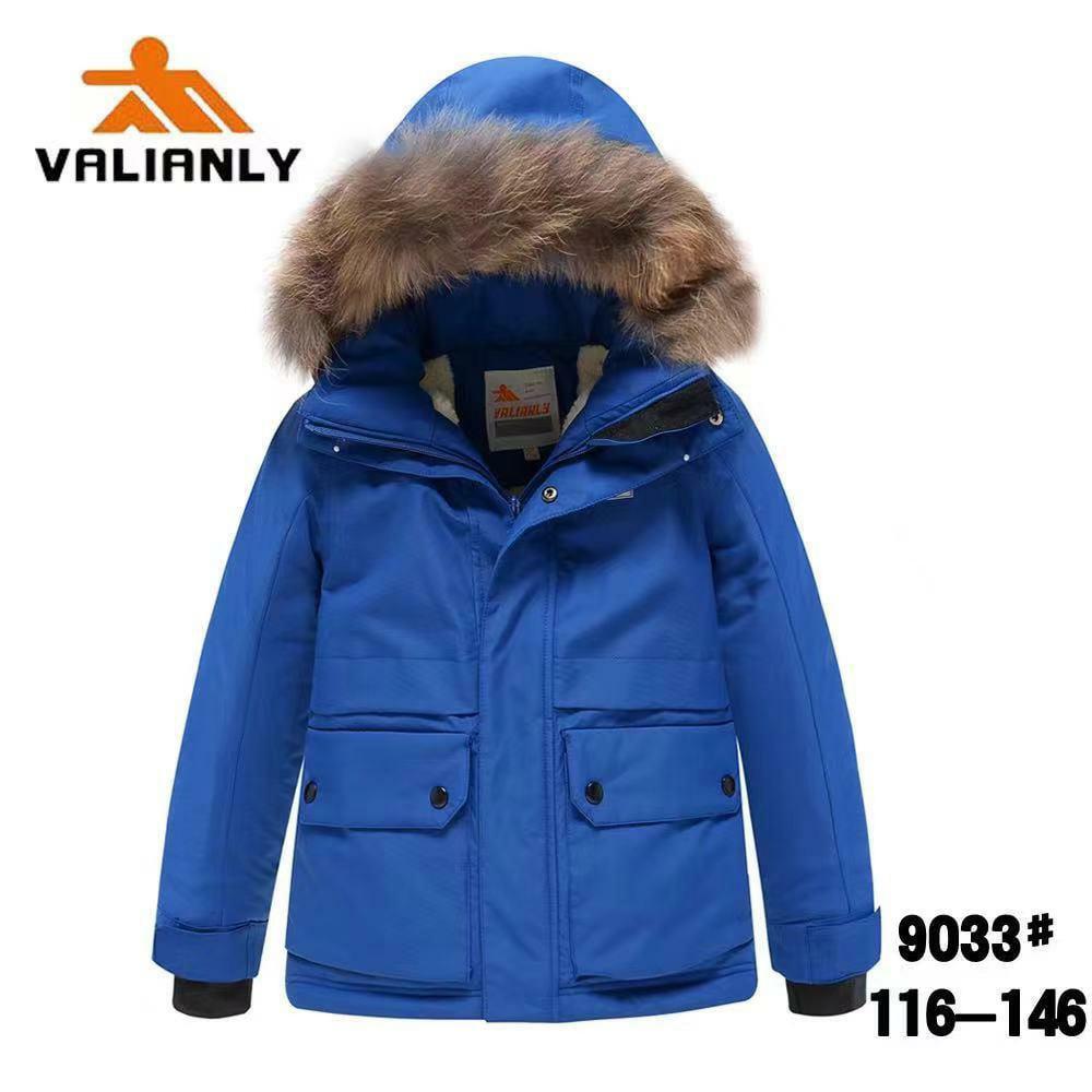 Зимняя куртка Valianly 9033 голубая