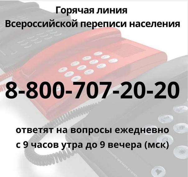 В России работает горячая линия о переписи населен...